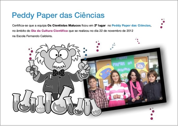 2º classificados peddy paper
