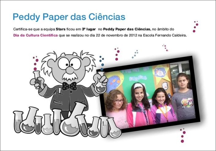 3º classificados peddy paper